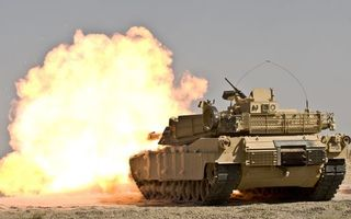 Фото бесплатно танк, башня, пулемет, броня, гусеницы, выстрел, пламя, огонь