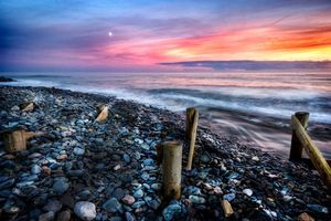 Photo free beach, stones, landscape