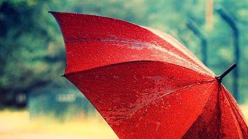Заставки зонтик, раскрытый, красный
