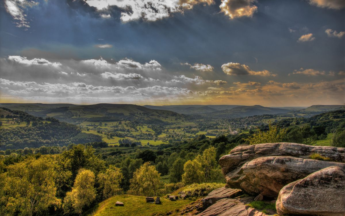 Фото бесплатно холмы, сопки, камни - на рабочий стол
