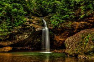Бесплатные фото Hocking Hills State Park, Ohio, водопад, скалы, природа