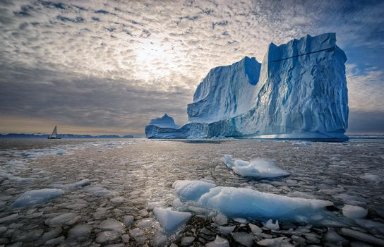 Бесплатные фото Арктика,Гренландия,Скандинавия,айсберг,море,лед,лодка,закат,пейзаж