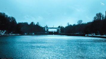Фото бесплатно ART IRBIS PRODUCTION, Москва, туман, деревья, река, берег, мост, снег, Khusen Rustamov, Хусен Рустамов, фотограф, xusenru, Природа, Россия, Город, мрак