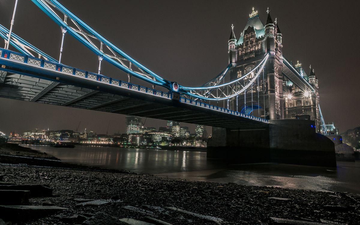 Фото бесплатно ночь, Лондон, река - на рабочий стол