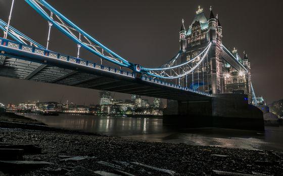 Фото бесплатно ночь, Лондон, река