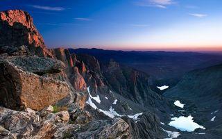 Бесплатные фото горы,скалы,камни,снег,горизонт,небо