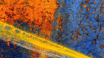 Заставки краски, синий, оранжевый