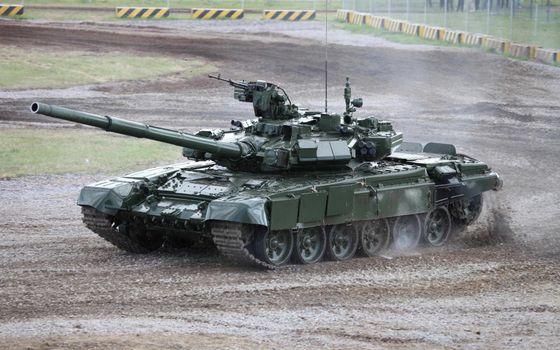 Фото бесплатно полигон, танк, башня