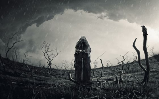 Фото бесплатно Воин, мрачно, меч
