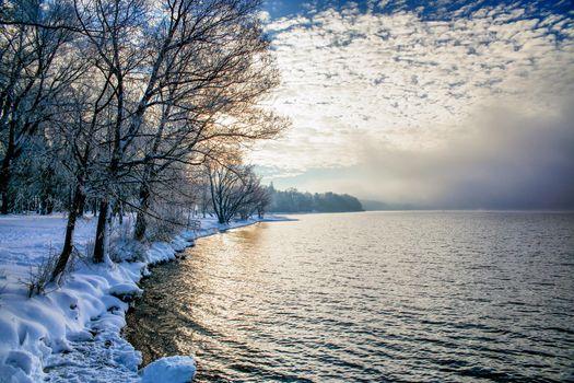 Бесплатные фото зима,озеро,деревья,пейзаж