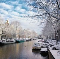 Photo free the capital and the largest city of the Netherlands, Netherlands, Located in the province of North Holland