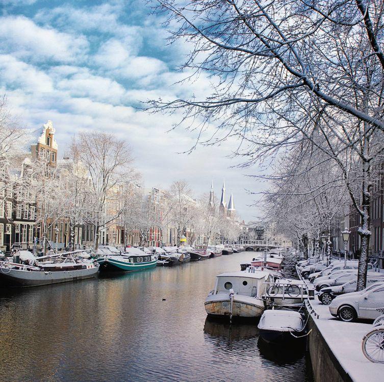 Фото бесплатно столица и самый большой город Нидерландов, Нидерланды, расположен в провинции Северная Голландия - на рабочий стол