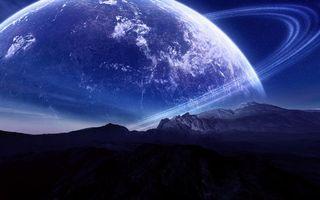 Бесплатные фото горы, вершины, небо, планета, кольца