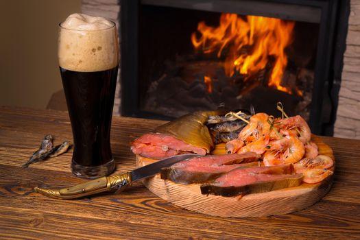 Бесплатные фото кружка,пиво,напиток,креветки,рыба,продукты