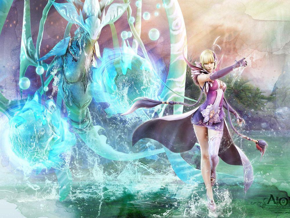 Фото бесплатно Девушка, персонаж, игра, магия, цветы, красота, девушки