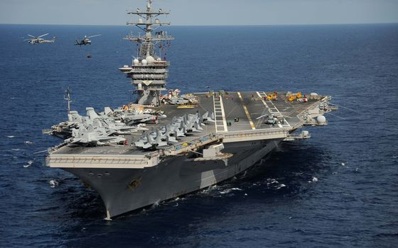 Photo free sea, aircraft carrier, deck
