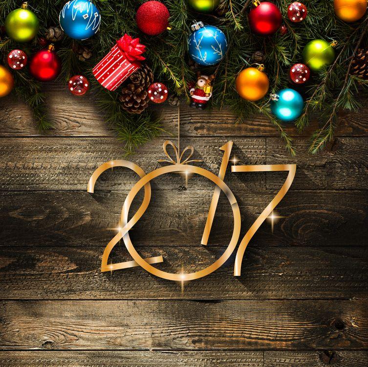 Фото бесплатно Happy New Year, новогодние обои, с новым 2017 годом - на рабочий стол