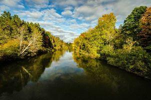 Бесплатные фото осень,река,лес,деревья,пейзаж