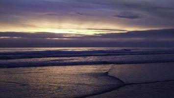 Бесплатные фото вечер,море,волны,горизонт,небо,облака
