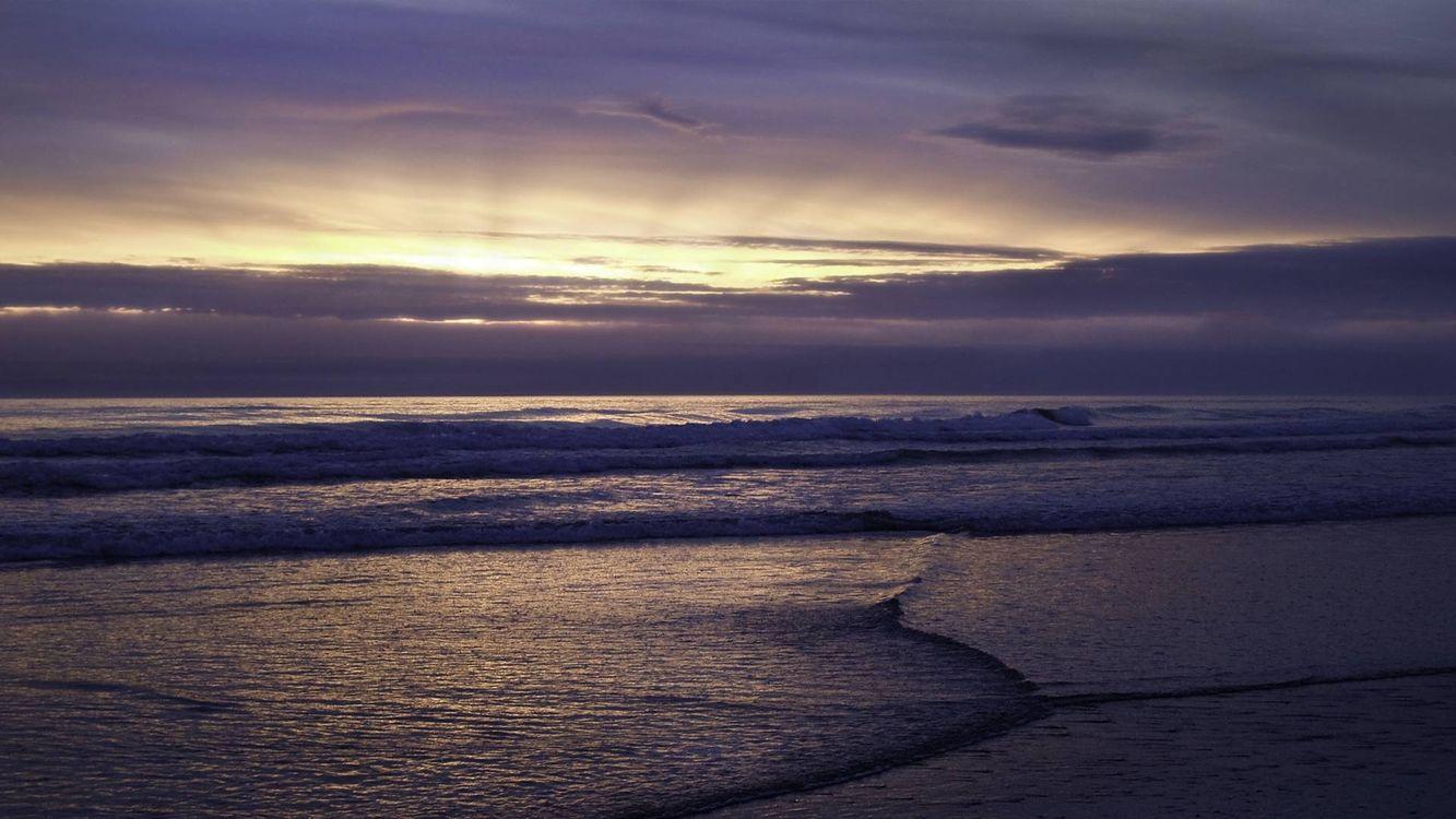 Фото бесплатно горизонт, волны, небо - на рабочий стол