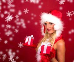 Фото бесплатно красивый макияж, новогодний костюм, гламур