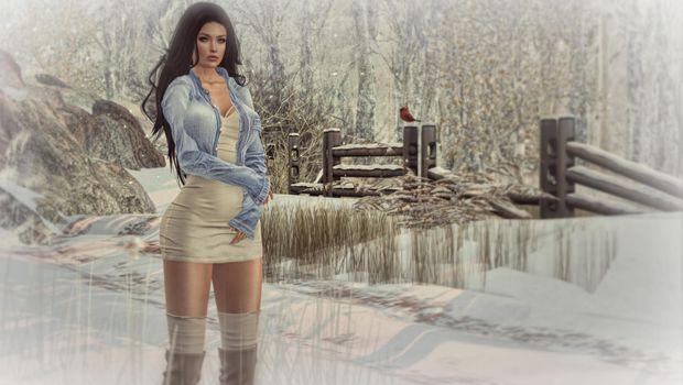 Фото бесплатно девушка, красотка, виртуальная девушка