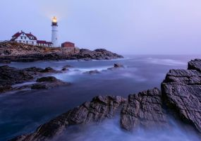 Photo free Portland Head Light, Cape Elizabeth, Maine