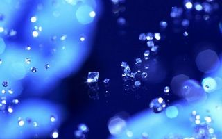 Бесплатные фото капли,кристаллы,блеск,размытое,фон,синий