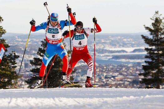 Photo free the biathlon race, men, sports