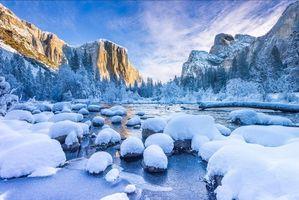 Заставки США, зима, Калифорния
