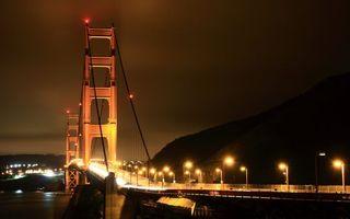 Бесплатные фото ночь,мост,конструкция,фонари,огни,дорога