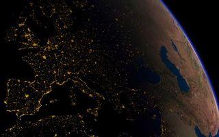 Фото бесплатно планета, земля, огни
