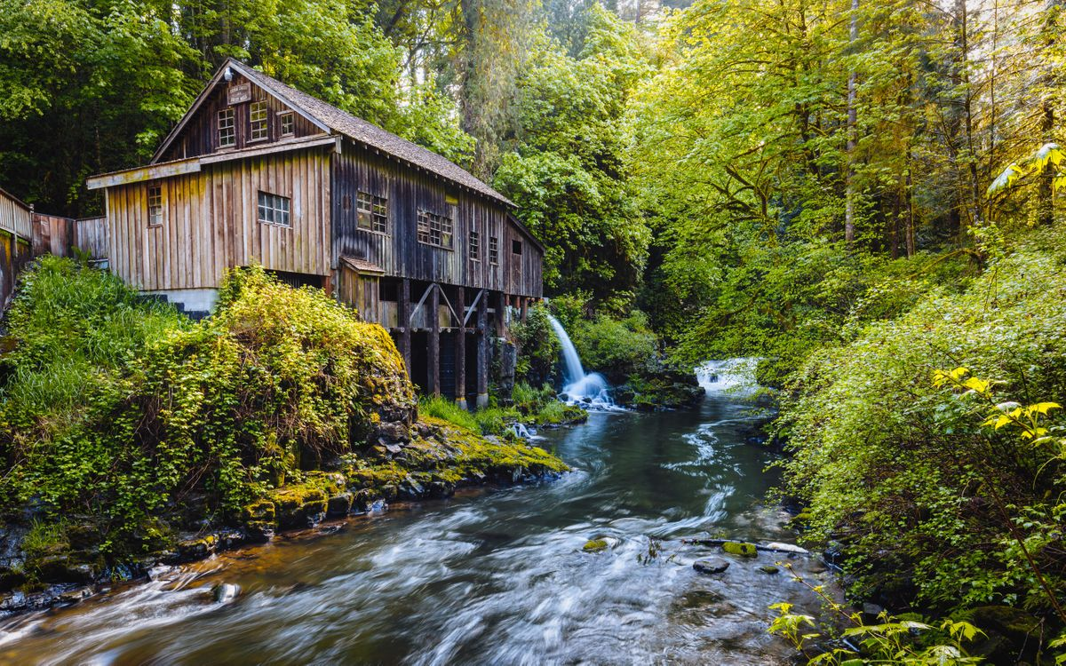 Free photo Cedar Creek Grist Mill, Autumn, forest - to desktop