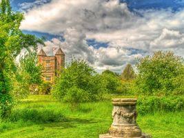 Бесплатные фото Англия,Сад,Кент,Сиссингхерст замок,Sissinghurst Castle,пейзаж