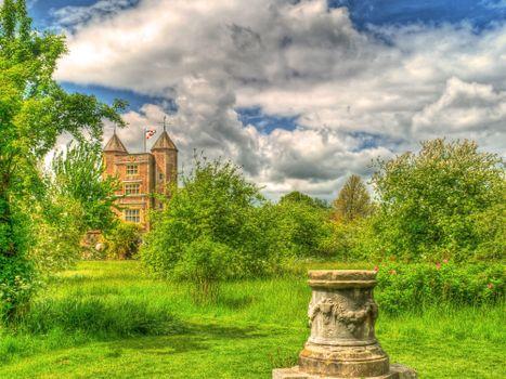 Фото бесплатно Англия, Сад, Кент, Сиссингхерст замок, Sissinghurst Castle, пейзаж