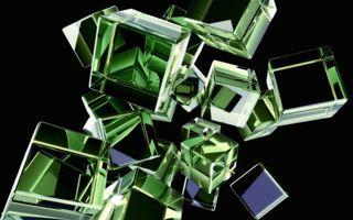 Бесплатные фото кубики,стекло,грани,фон черный