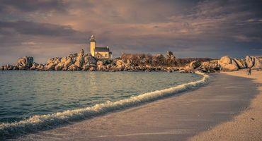 Бесплатные фото Финистер,Франция,Бретань,море,камни,маяк,берег