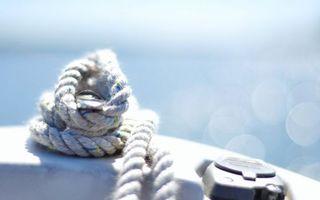 Фото бесплатно канат, веревка, компас, море