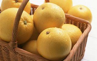 Заставки корзина, фрукты, цитрусы, апельсины, капли, вода