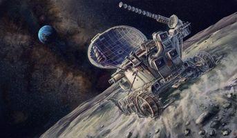 Бесплатные фото Луноход,СССР,луна,Земля,звёзды,наука,техника