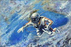 Заставки Алексей Леонов,18 марта 1965 года,космонавт,человек,космос,планета,Земля