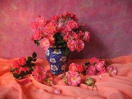 Фото бесплатно цветы, ваза, розы