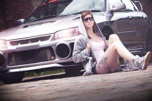 Фото бесплатно Mitsubishi Lancer, тюнинг, девушка