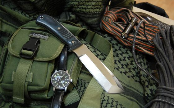 Photo free knife, watch, equipment