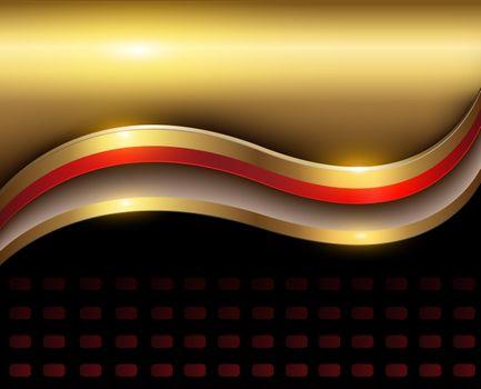 Дизайн с золотом, трехмерный