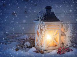 Фото бесплатно лампы, волшебные рождественские огни, снег