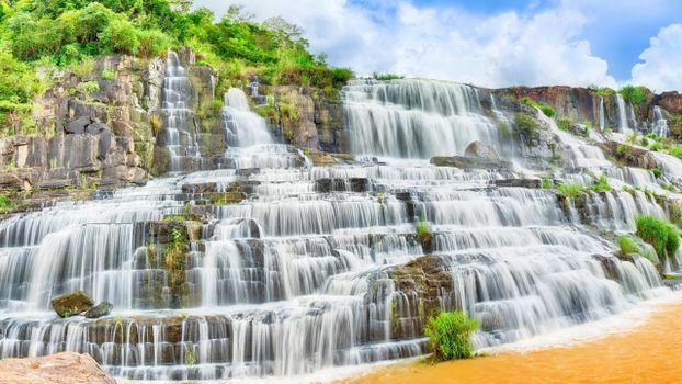 Бесплатные фото водопад,растительность,деревья,река