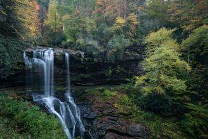 Бесплатные фото осень, лес, деревья, водопад, природа