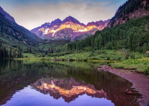 Бесплатные фото Maroon Lake,Colorado,Maroon Bells