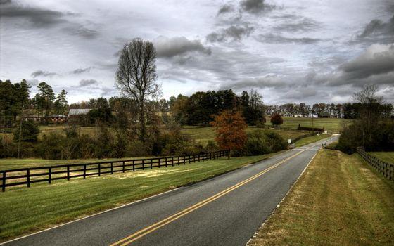 Photo free road, marking, roadside